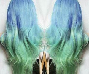 blue, colors, and haïr image
