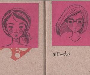 girl, sketch, and dooldes image