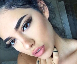 beautiful girl, beauty, and brown eyes image