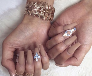 nails, diamond, and glam image