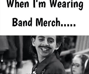 bands, funny, and band merch image