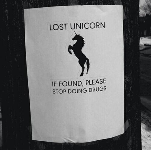 unicorn, drugs, and funny image
