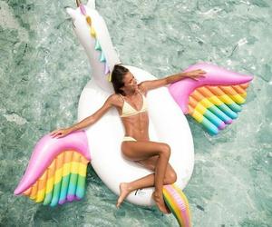 unicorn, summer, and bikini image