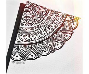 art, black, and henna image