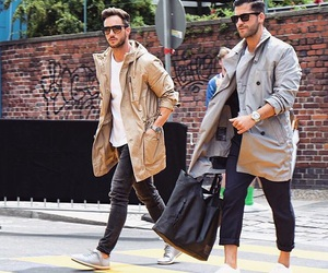 coat, shoe, and men style image
