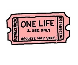 life, pink, and ticket image