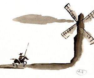 art, don quixote, and painting image