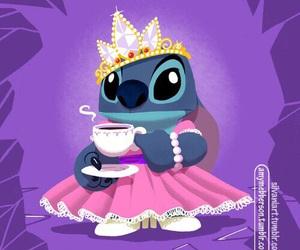 stitch, disney, and princess image