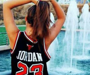 girl, jordan, and 23 image