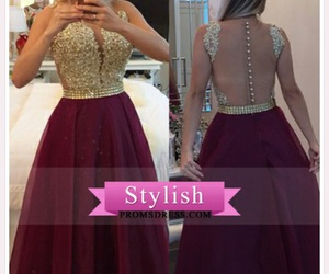 maroon, prom dress, and perfect image