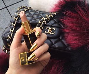 chanel, nails, and lipstick image
