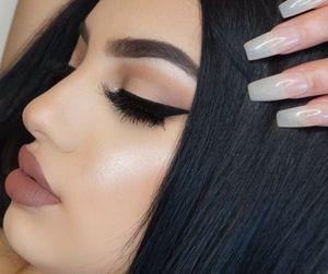 makeup, lips, and nails image