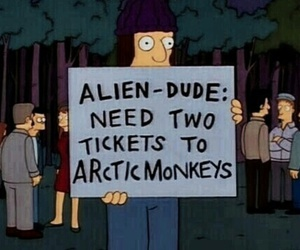 arctic monkeys, grunge, and simpsons image