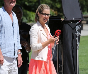 behind the scene, dc comics, and emily bett rickards image