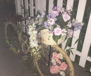 bike, flowers, and pastel image