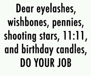 wish, 11:11, and eyelashes image