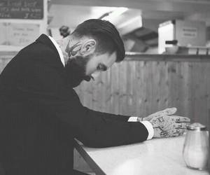 beard, guy, and style image