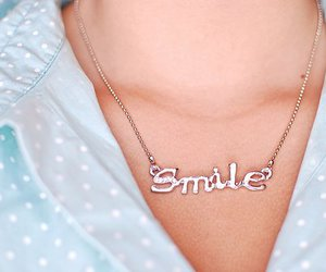 smile and necklace image