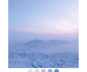 snow, sunset, and white image