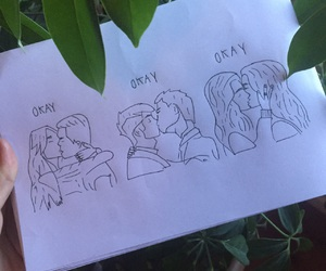 aesthetic, heterosexual, and drawing image