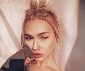 blonde, makeup, and models image