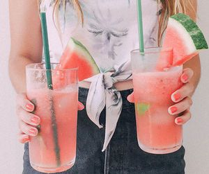 coctail, girl, and hipster image