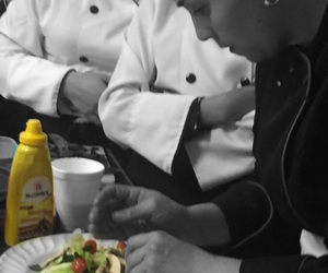 chef, class, and salad image