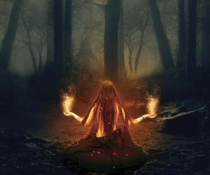fantasy, girl, and fire image