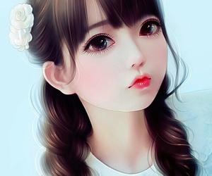 wallpaper, art, and beautiful girl image