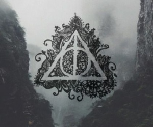 harry potter, wallpaper, and deathly hallows image