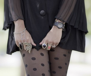 accessoires, black, and dress image