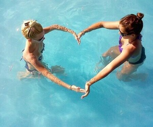heart, summer, and friends image