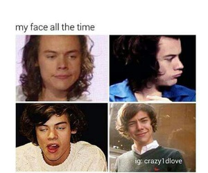 face, funny, and Harry Styles image