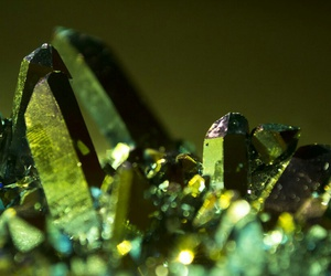 crystals and green image