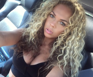 blonde, curly hair, and dancer image