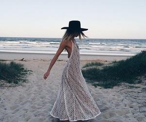 beach, love, and dress image