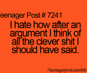 argument, teenager post, and quote image