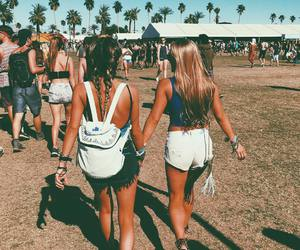 summer, friends, and coachella image
