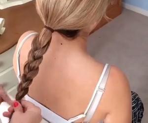 beauty, bun, and hairdo image
