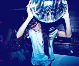 girl, party, and disco image