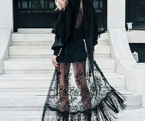 amazing, lady in black, and blond image