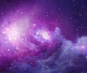 galaxy, purple, and stars image