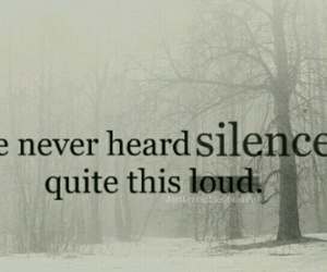 quote, silence, and loud image