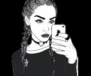 tumblr, outline, and black image