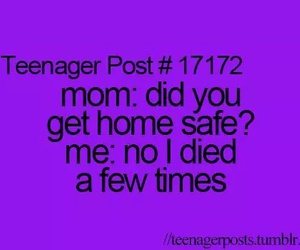 teenager post, funny, and mom image