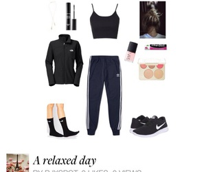 nike, socks, and crop top image