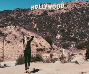 hollywood, travel, and california image