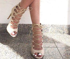 beige, heels, and trending image