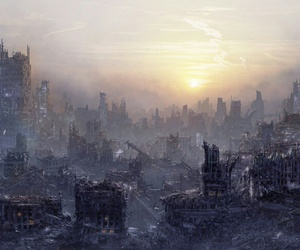 attack, buildings, and destruction image