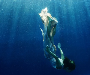 diving, dress, and girl image